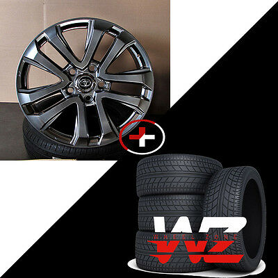 22  Split Spoke Style Hyper Black Wheels W Tires Fits Toyota Tundra Landcruiser