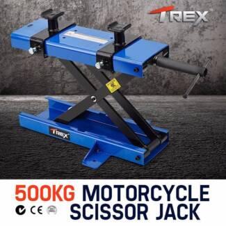 Motorcycle Jack Scissor Lift Bike Lifter Stand Hoist