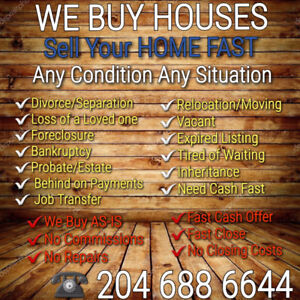 NEED TO SELL? I WILL HELP YOUR SITUATION!  CALL FOR MORE INFO