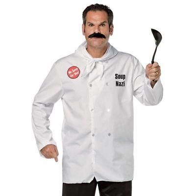 Adult Sitcom Classic TV Show Seinfeld Larry Thomas Soup Nazi White Costume - Seinfeld Costumes