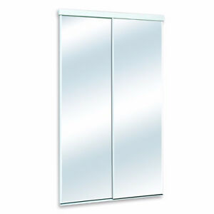 48-inch Frameless Mirrored Sliding Door