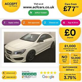 Mercedes-Benz CLA AMG Sport FROM £77 PER WEEK!