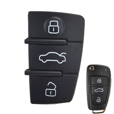 3 Button ABS Car Remote Flip Key Fob Case Blade Cover Shell Black Fit for Q3 Q7 TT A8 A6 Suuonee Key Fob Case