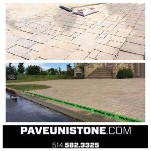 PAVE_UNI STONE - PAVER CLEANING & SANDING -RE-LEVELLING West Island Greater Montréal image 5