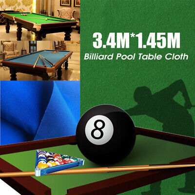 11.15ft X 4.7ft Worsted Billiard Pool Snooker Table Cloth Felt Cover Green/Blue