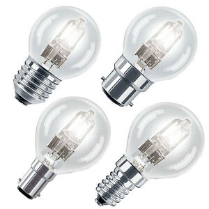 Eco Halogen Energy Saving Golf Ball Light Bulbs B22,E14 ...