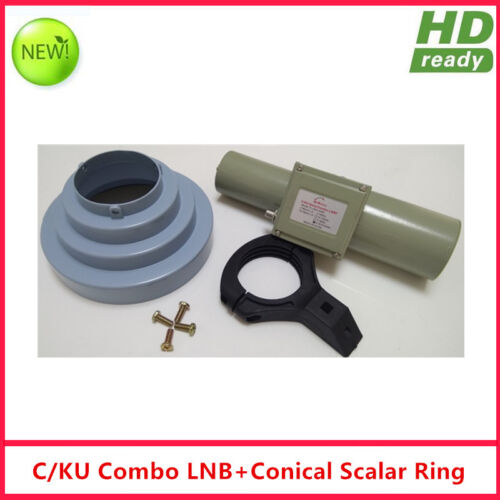 C/Ku Band Combo LNBF+Conical scalar Ring with Holder