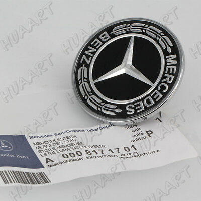Mercedes-Benz C-class W205 BLACK Hood Badge Brille Emblem A0008171701