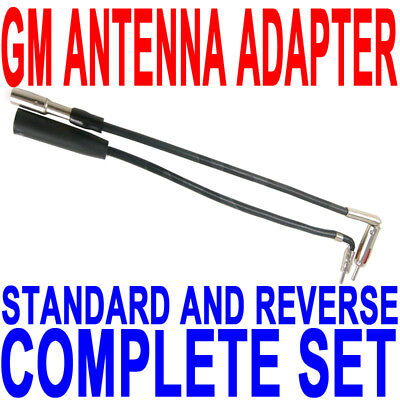 GM Chevy Buick CAR RADIO ANTENNA ADAPTER COMPLETE SET FAST FREE SHIP!