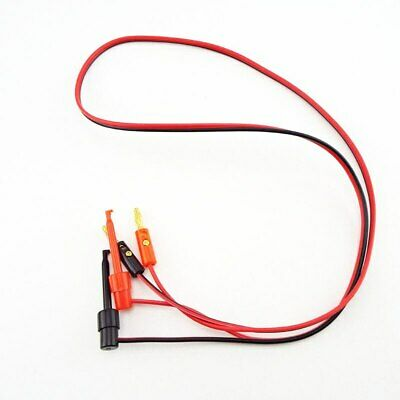 4mm Banana Plug To Test Hook Clip Probe Cable Lead 1m3.3ft Multimeter Testing