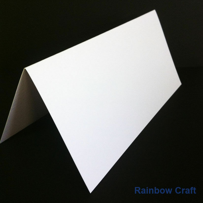 10 Blank Cards & Envelopes / Scallop Edge / step card / DL / Horizontal / Swing - DL Card