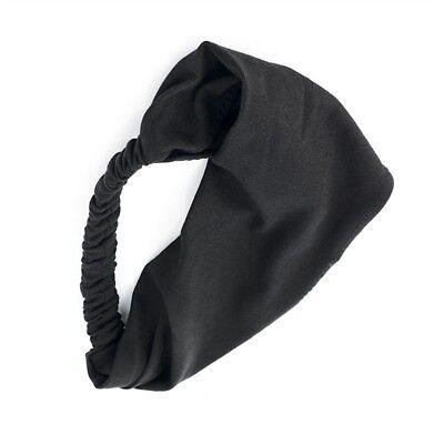 Multi Function Black Head Band - Soft Fabric Fashion Head Scarf & Hair Wrap Band