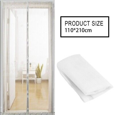 Black/White Magnetic Insect Door Mesh Net Screen for Bug Mosquito Fly Curtain - Curtain For Door