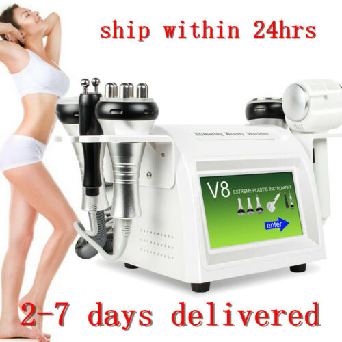 8 in 1 ! 40KHz Cavitation Vacuum RF Body Reshape Beauty Machine USA Ship