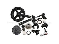 Shimano 105 5800 11 Speed Groupset 2x11-speed 53/39T 172.5mm Black Done Around 40 Miles