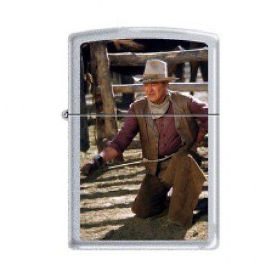 Zippo Lighter - John Wayne The Cowboys Satin Chrome - 853284