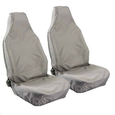 CAR VAN 4X4 MPV HEAVY DUTY WATERPROOF GREY FRONT SEAT COVERS 1+1