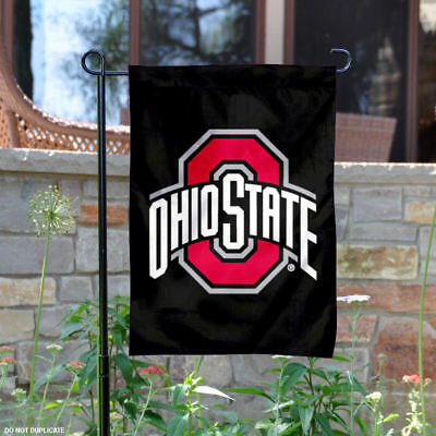 OSU Buckeyes Black Garden Flag and Yard Banner