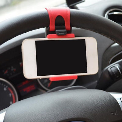 Universal Car Steering Wheel Clip Cradle Stand Mount Holder For Mobile Phone