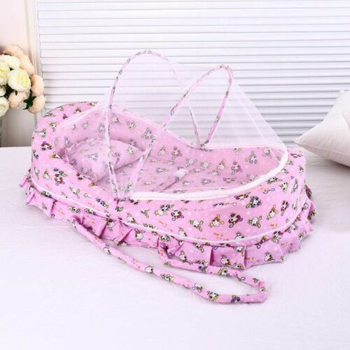 Baby Bed With Mosquito Net Portable Baby Crib Game Cotton Folding Bed With Cover