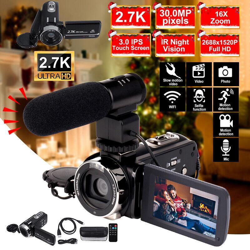 "3"" Full HD 1080P 30MP DV 16X Zoom WIFI IR Night Vision Digital Video Camera"