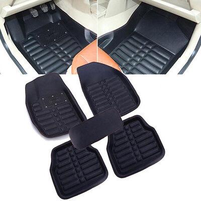 5pcs Universal Car Auto Floor Mats FloorLiner FrontRear Carpet All Weather Mat