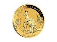 1/4 oz GOLD NUGGET 2020 BU $25 Australian Kangaroo Coin złoto d'or once Kangur