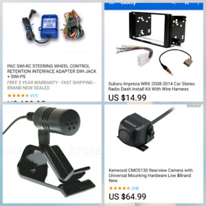 Reverse cam, mic, steering wheel control module and more
