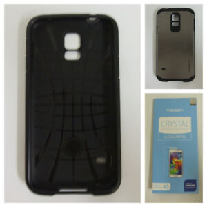 Galaxy S5 Cellphone Case & 2 New Screen Protectors