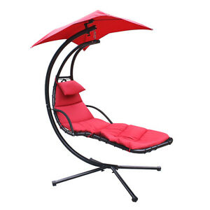 NEW SWINGING HAMMOCK LOUNGER SUN CHAIR OUTDOOR FURNITURE PATIO