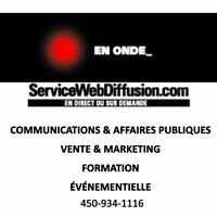 SERVICE WEBDIFFUSION  - WEBCAST SERVICE MONTREAL