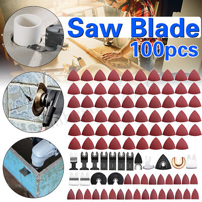 100pcs Mix Oscillating Saw Blade Kit For Fein Bosch Makita Multimaster Multitool
