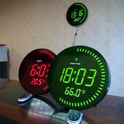 Modern Design Large Jumbo Digital Home Decor Night Light LED Wall Clock watch
