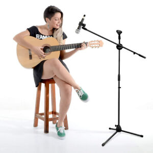 On Stage Adjustable Microphone Mic Cilp Holder Stand Tripod Boom