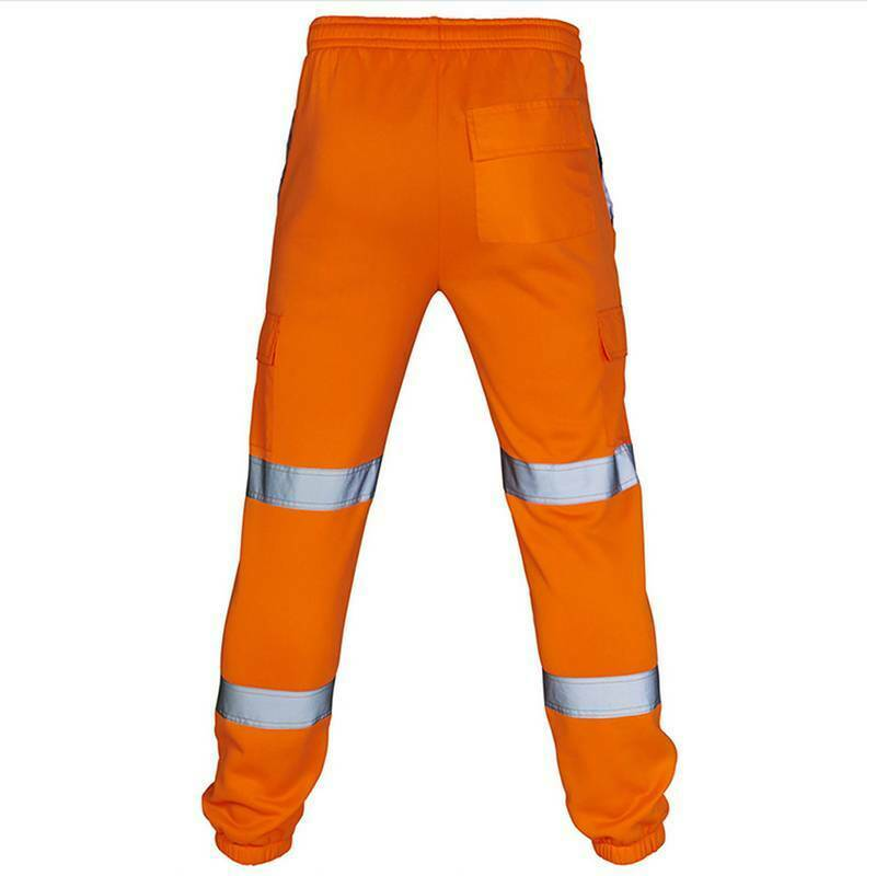 Men Hi Vis Rain Pants Work Windproof Reflective High Visibility Safety Trousers Clothing, Shoes & Accessories