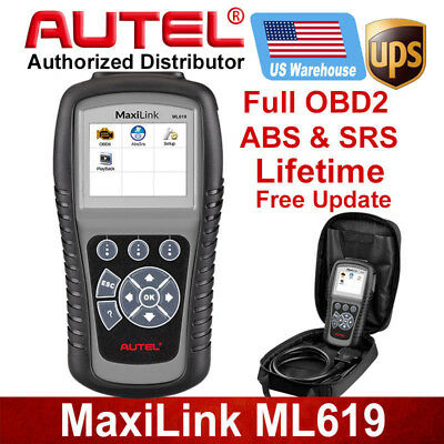 Autel ML619 Auto Scan OBD2 Diagnostic Scanner Code Reader Reset SRS ABS