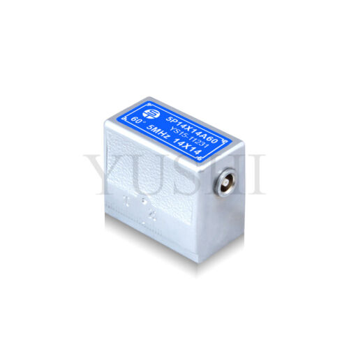 YUSHI Angle Beam Transducer 5MHz 14*14mm 60 Degree Ultrasonic Testing Probe