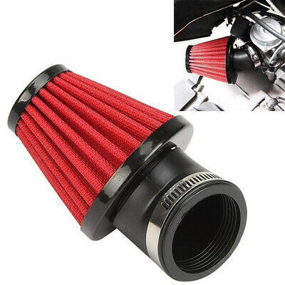 Adjustable Red 48mm 45° Bend Air Intake Filter For Motorcycles Scooter