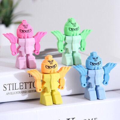 4Pcs Robot Erasers Rubber Eraser Assorted Stationery School Study Gift 3D - 3d Erasers