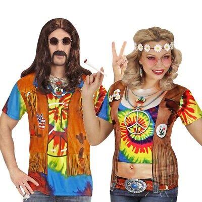 60er 70er Hippie Kostüm 3 D Shirt Partnerkostüm für Damen & Herren Flower - Partner Kostüm Für Damen