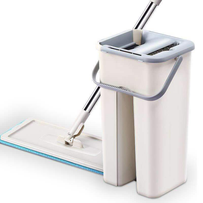 Self Cleaning Retractable Flat Mop + Bucket System Microfiber Pads High Quality Cleaning Tools