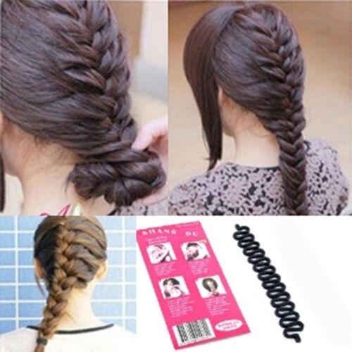 Women Fashion Magic Hair Styling Clip Stick DIY Maker Braid Tool Hair Accessory