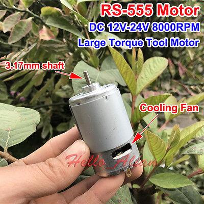 Dc 12v 18v 24v 8000rpm Large Torque Rs-555 Dc Motor For Electric Drill Tools Diy