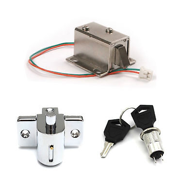 Aluminum Catch Push Lock S1203 Electric Solenoid Assembly 12V 350mA BAF ()