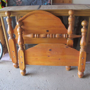 solid pine twin headboard/footboard - have 2 sets