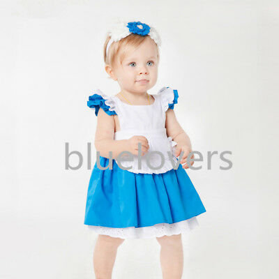 Alice In Wonderland baby Girl Fancy Dress Lolita Costume Halloween Kids'Outfit
