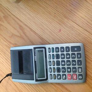 Casio hand held printing calculator