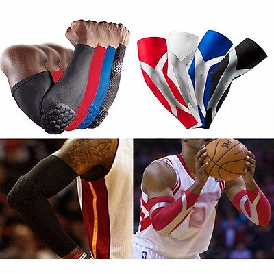 Gear Honeycomb Pad Crashproof Basketball Shooting Arm Sleeve Elbow Support Brace
