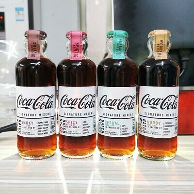 Coca Cola Limited UK Edition Signature Mixers. Individual 200ml Glass Bottles
