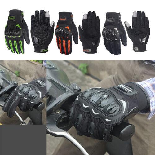 Motorcycle Bike Gloves Hard Knuckle Full Finger Gloves Touch Screen Waterproof